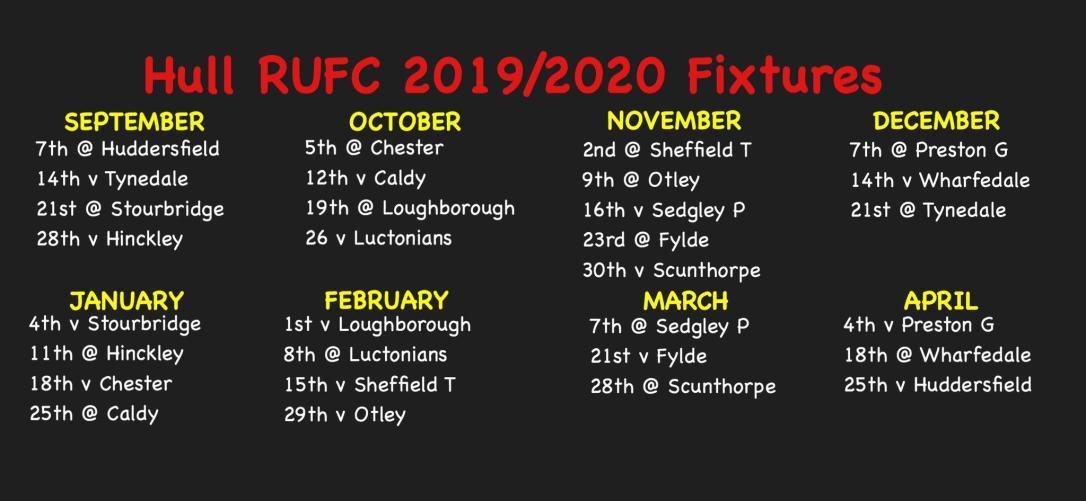 Fixtures - Hull RUFC 1920